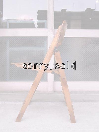 画像4: アンティーク 椅子 1930'S カーブド プライウッドチェア フォールディングチェア ビンテージ その1