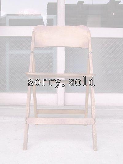 画像2: アンティーク 椅子 1930'S カーブド プライウッドチェア フォールディングチェア ビンテージ その1