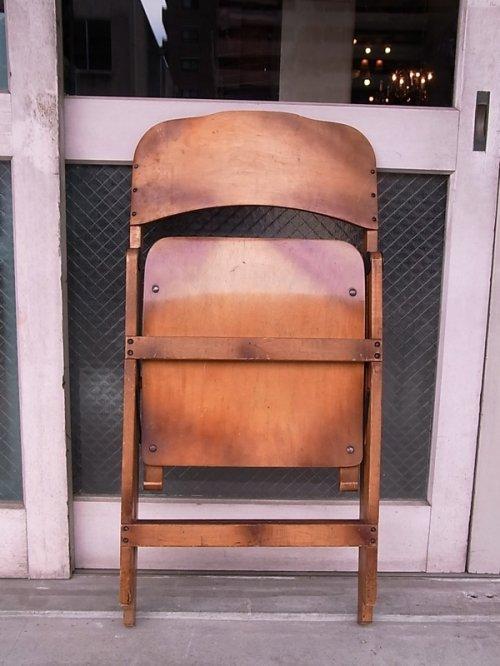 other photographs.1: アンティーク 椅子 1930'S カーブド プライウッドチェア フォールディングチェア ビンテージ その1