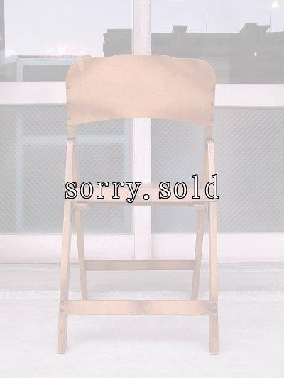 画像3: アンティーク 椅子 1930'S カーブド プライウッドチェア フォールディングチェア ビンテージ その1