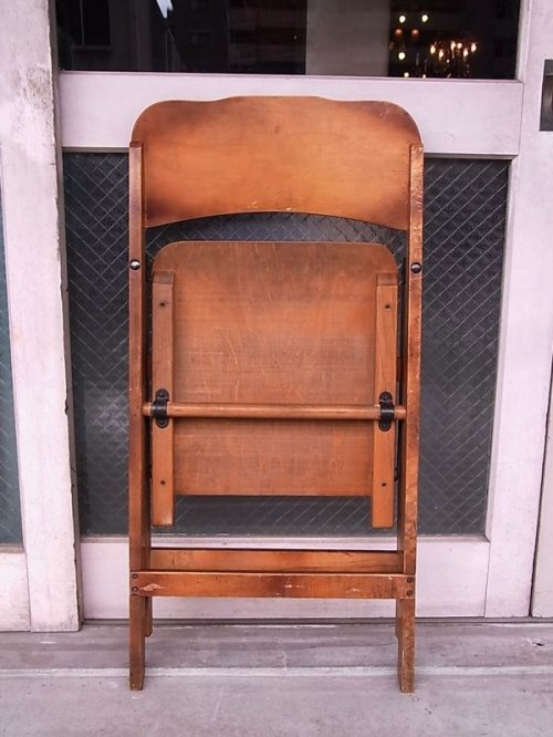other photographs.2: アンティーク 椅子 1930'S カーブド プライウッドチェア フォールディングチェア ビンテージ その1