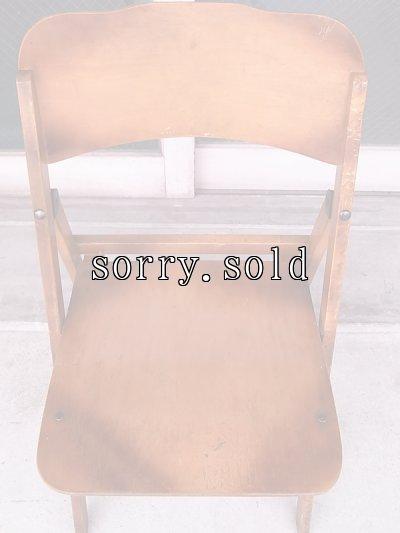 画像5: アンティーク 椅子 1930'S カーブド プライウッドチェア フォールディングチェア ビンテージ その1