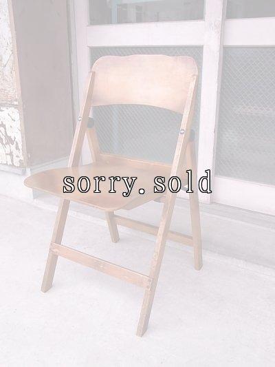 画像1: アンティーク 椅子 1930'S カーブド プライウッドチェア フォールディングチェア ビンテージ その1