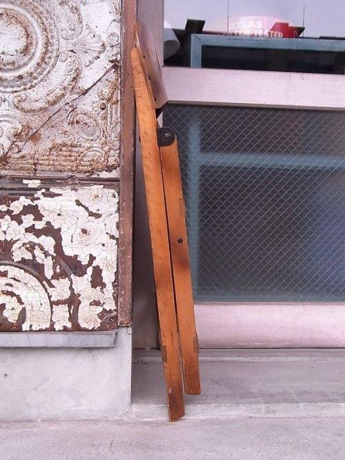 other photographs.3: アンティーク 椅子 1930'S カーブド プライウッドチェア フォールディングチェア ビンテージ その1