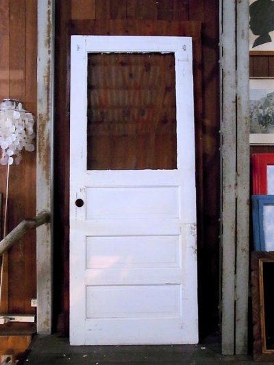 画像5: アンティーク ガラス窓付木製ドア ホワイト/ブルー×ホワイト ビンテージ