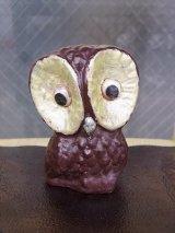 アンティーク オブジェ フクロウ 不苦労 陶器 目が可動 ビンテージ その2