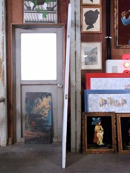 other photographs.3: アンティーク ガラス窓付木製ドア ホワイト/ブルー×ホワイト ビンテージ