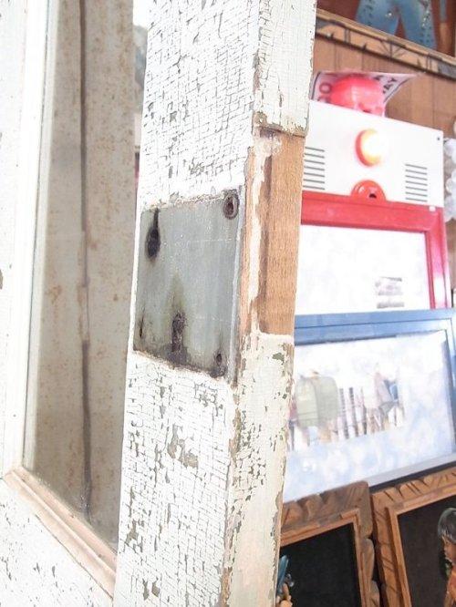 other photographs.2: アンティーク 2分割ガラス窓付木製ドア ピンク/グリーン×グリーン/ブルー シャビー ビンテージ