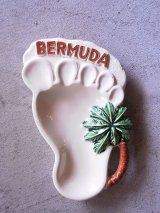 アンティーク 小物入れ 灰皿 陶器 BERMUDA 足型 ビンテージ