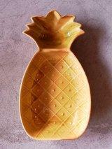 アンティーク 1960'S 小物入れ 灰皿 陶器 パイナップル CALIF USA ビンテージ