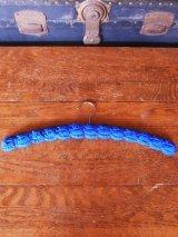 アンティーク 木製ハンガー ニット 青色 ヴィンテージ