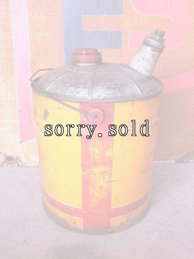 画像5: アンティーク シェル ガソリン携行缶 ティン缶  SHELL オイル缶 大型 ビンテージ