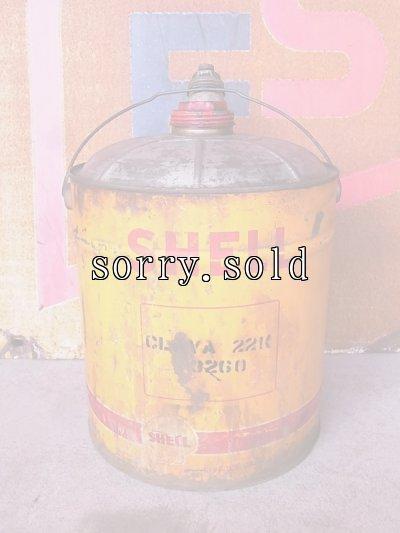 画像3: アンティーク シェル ガソリン携行缶 ティン缶  SHELL オイル缶 大型 ビンテージ