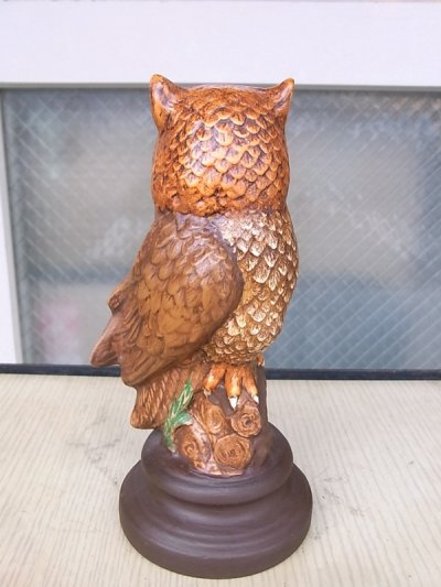 画像3: アンティーク アウル オウル オブジェ OWL フクロウ 陶器 不苦労 ビンテージ