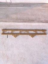 アンティーク 6連フック 壁掛け ウッド×アイアン シャビー ビンテージ