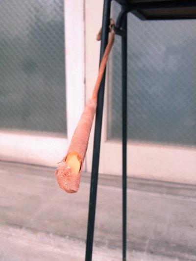 画像3: アンティーク 木製ハンガー ファブリック付 ヴィンテージ