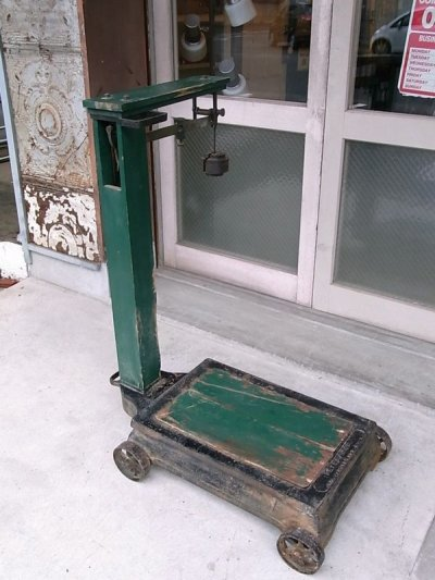 画像1: SALE !!! アンティーク 1900'S 秤 FAIRBANKS スケール 計量器 ウッド アイアン グリーン ビンテージ