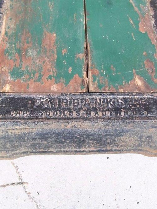 other photographs.3: SALE !!! アンティーク 1900'S 秤 FAIRBANKS スケール 計量器 ウッド アイアン グリーン ビンテージ