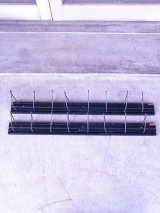 アンティーク gates 8連フック 壁掛け ウォールハンガーラック ウッド×アイアン ブラック ビンテージ