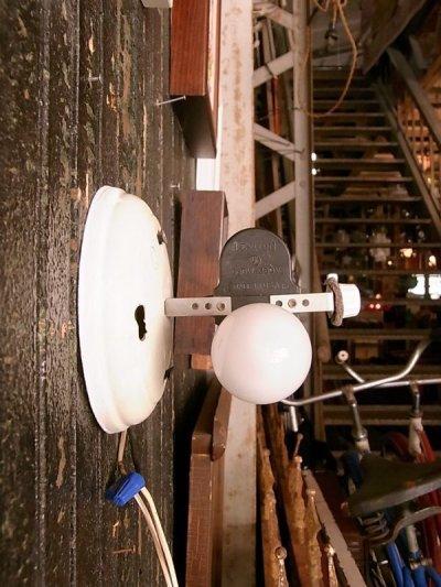 画像5: アンティーク 1960'S 柄付ガラスシェード  2灯 シーリングマウント&ウォールマウントブラケットライト ビンテージ