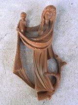 アンティーク ウォールオーナメント 壁掛け 聖母マリア イエス・キリスト プラスティック ビンテージ