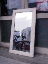 アンティーク 1930'S ミラー フレーム付き鏡 ウッドフレーム ホワイト ビンテージ
