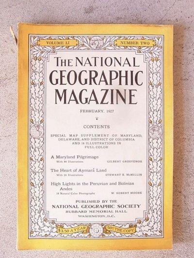 画像2: 1920'S ナショナルジオグラフィック アンティーク 洋書 THE NATIONAL GEOGRAPHIC MAGAZINE 20'S 1927 ナショジオ 本 古書 ビンテージ