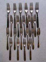アンティーク カトラリー シルバー FOLK フォーク 銀食器 装飾 ビンテージ