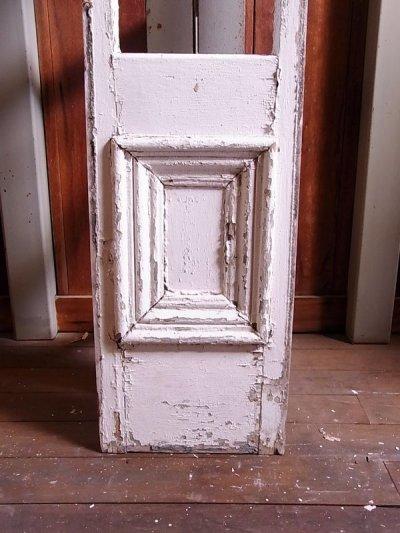 画像2: アンティーク 木枠ガラス窓 4分割 木製 ホワイト 装飾 長細 ビンテージ