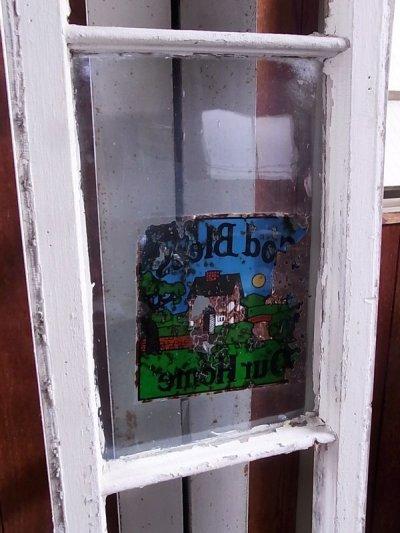 画像4: アンティーク 木枠ガラス窓 4分割 木製 ホワイト 装飾 長細 ステッカー ビンテージ
