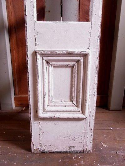 画像2: アンティーク 木枠ガラス窓 4分割 木製 ホワイト 装飾 長細 ステッカー ビンテージ