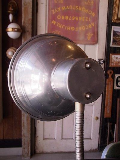 画像3: アンティーク マシーンエイジ 1灯 インダストリアル テーブルランプ メタルシェード スイッチ付き ビンテージ