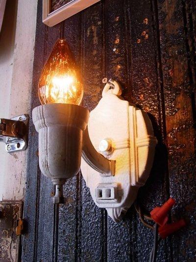 画像2: アンティーク ウォールマウントブラケットライト 1灯 装飾 ホワイト ビンテージ