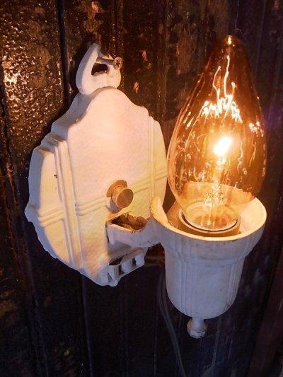 画像1: アンティーク ウォールマウントブラケットライト 1灯 装飾 ホワイト ビンテージ