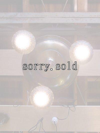 画像5: アンティーク アールデコ シーリングライト 3灯 シャンデリア 真鍮 ベアバルブ スイッチ付 装飾 ビンテージ