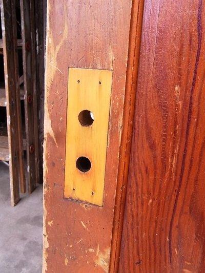 画像5: 1920'S アンティーク 木製ドア ベアウッド アルミルーバー 通気口 ビンテージ
