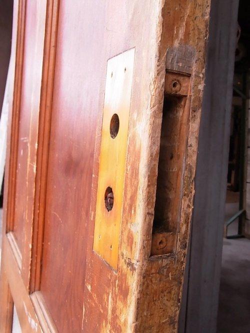 other photographs.1: 1920'S アンティーク 木製ドア ベアウッド アルミルーバー 通気口 ビンテージ