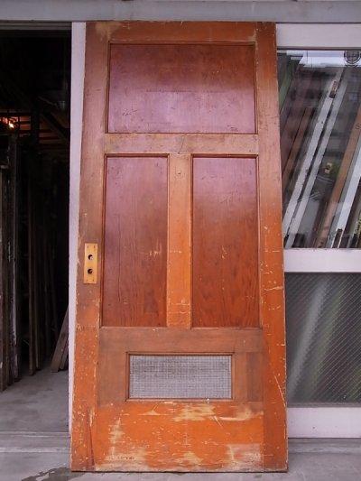 画像2: 1920'S アンティーク 木製ドア ベアウッド アルミルーバー 通気口 ビンテージ