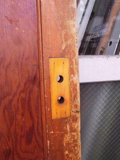 画像3: 1920'S アンティーク 木製ドア ベアウッド アルミルーバー 通気口 ビンテージ