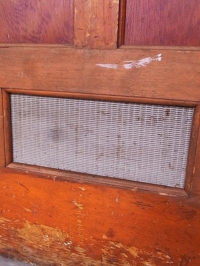 画像4: 1920'S アンティーク 木製ドア ベアウッド アルミルーバー 通気口 ビンテージ