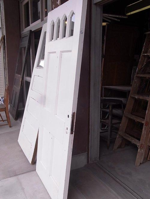 other photographs.3: アンティーク 4分割ガラス窓付木製ドア ホワイト ビンテージ