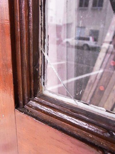 画像5: アンティーク ガラス窓付木製ドア ホワイト×ウッド ビンテージ