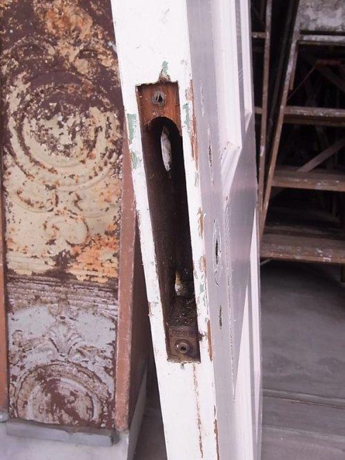 other photographs.1: アンティーク 4分割ガラス窓付木製ドア ホワイト ビンテージ