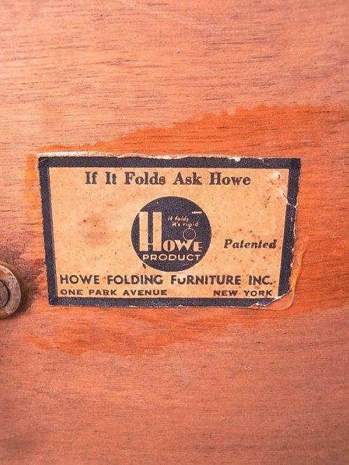 other photographs.2: アンティーク 1940'S ウッド フォールディングテーブル HOWE キャンプ CAMP アウトドアテーブル ビンテージ
