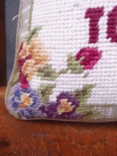 画像5: アンティーク ミニクッション 刺繍 金婚式 50 YEARS TOGETHER ヴィンテージ