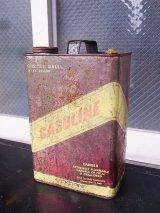 アンティーク ティン缶 GASOLINE ガソリン缶 オイル缶 ビンテージ