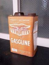 アンティーク ティン缶 1ガロン GASOLINE EAGLE ガソリン缶 オイル缶 ビンテージ