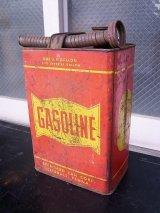 アンティーク ティン缶 GASOLINE ガソリン缶 オイル缶 給油ノズル付 1ガロン ビンテージ