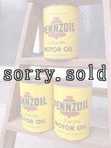 アンティーク ティン缶 PENNZOIL MOTOR OIL オイル缶 ビンテージ