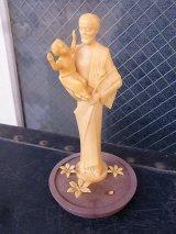 ヨセフ イエスキリストの父 幼いキリスト オブジェ プラスティック アンティーク ビンテージ